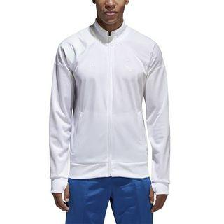 Medium - XL Adidas Real Madrid white track jacket