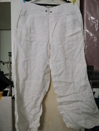 Athleta Linen Wide Legged Pants