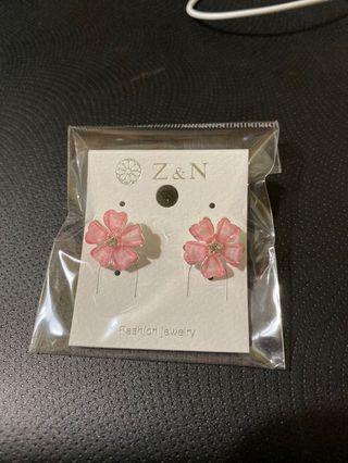 五花瓣耳環-粉