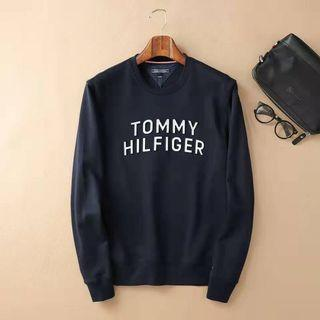 TOMMY HIGHER 男生立體字母圓領衛衣