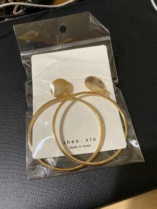 大圓圈耳環-金