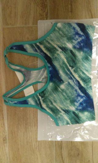 全新Lativ吸排bra 短版背心 運動內衣 印花超美