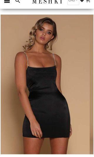 Meshki Ruby Diamante Strap Mini Dress Size XS