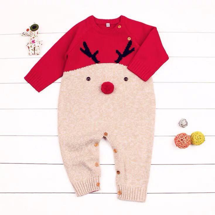 ⭐預購⭐聖誕麋鹿針織連身衫(2)