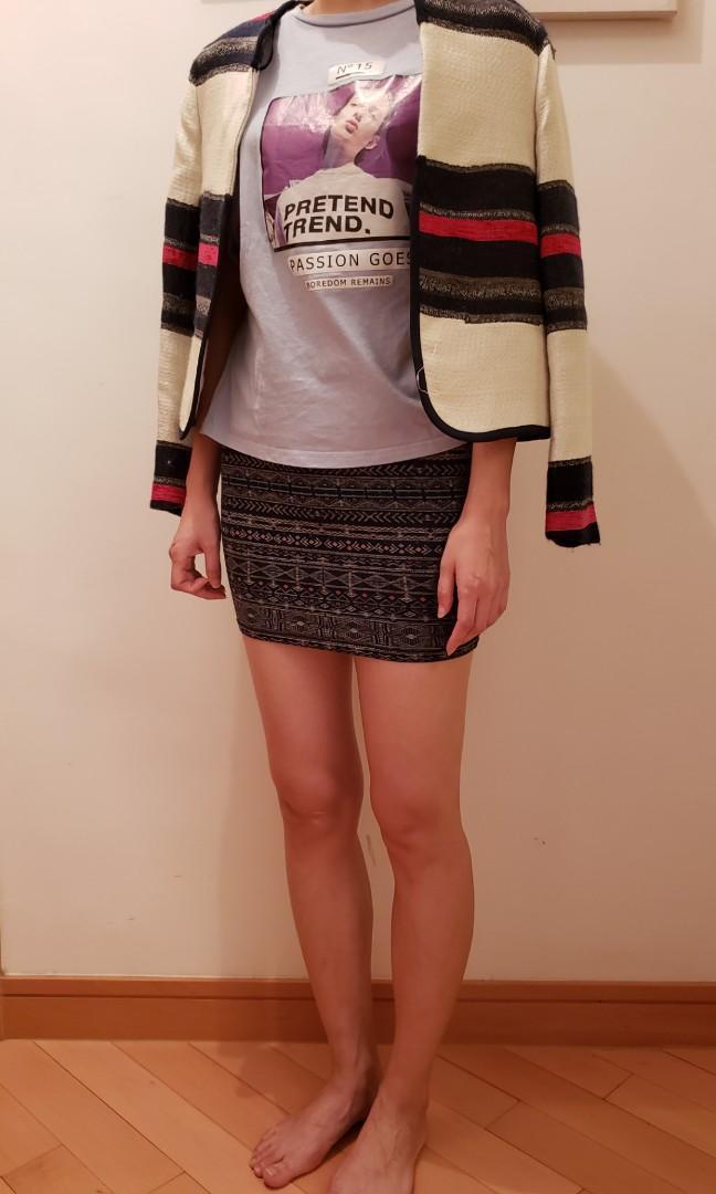 90% new Zara white jacket with stripes