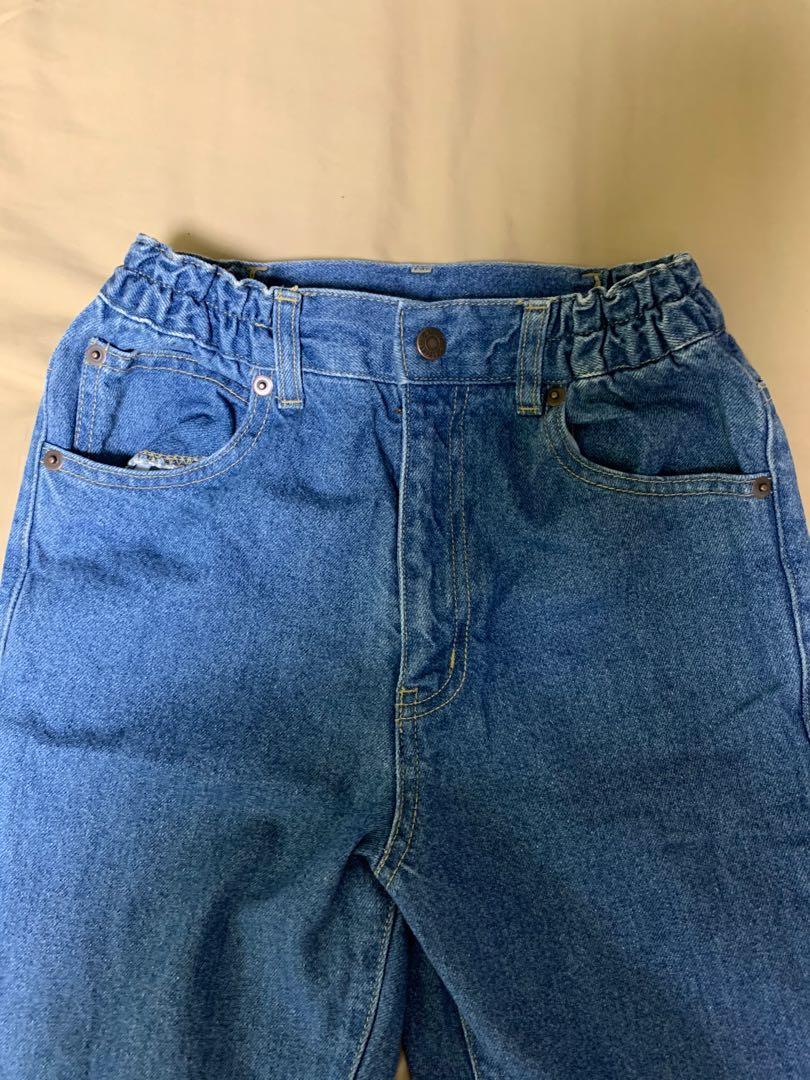 日本🇯🇵帶回高腰彈性喇叭寬褲牛仔落地褲