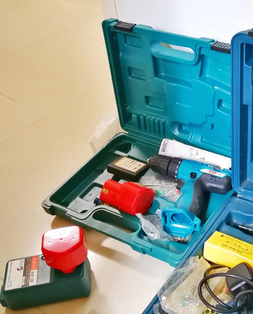 充電式手提電鑽 兩電池