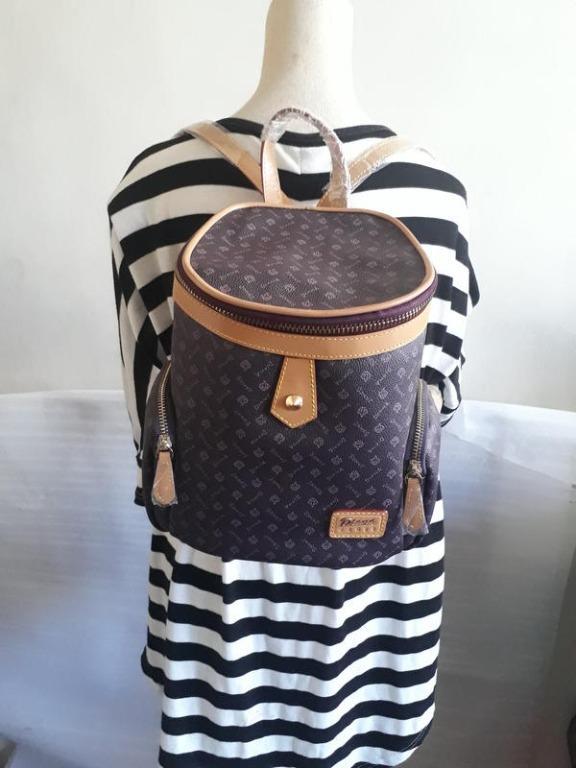 紫庭雜貨*全新 皮包 黛安娜 Diana 後背包 紫色典雅義大利皇冠 側背包 肩背包 手提包 筆電包 展示包特價