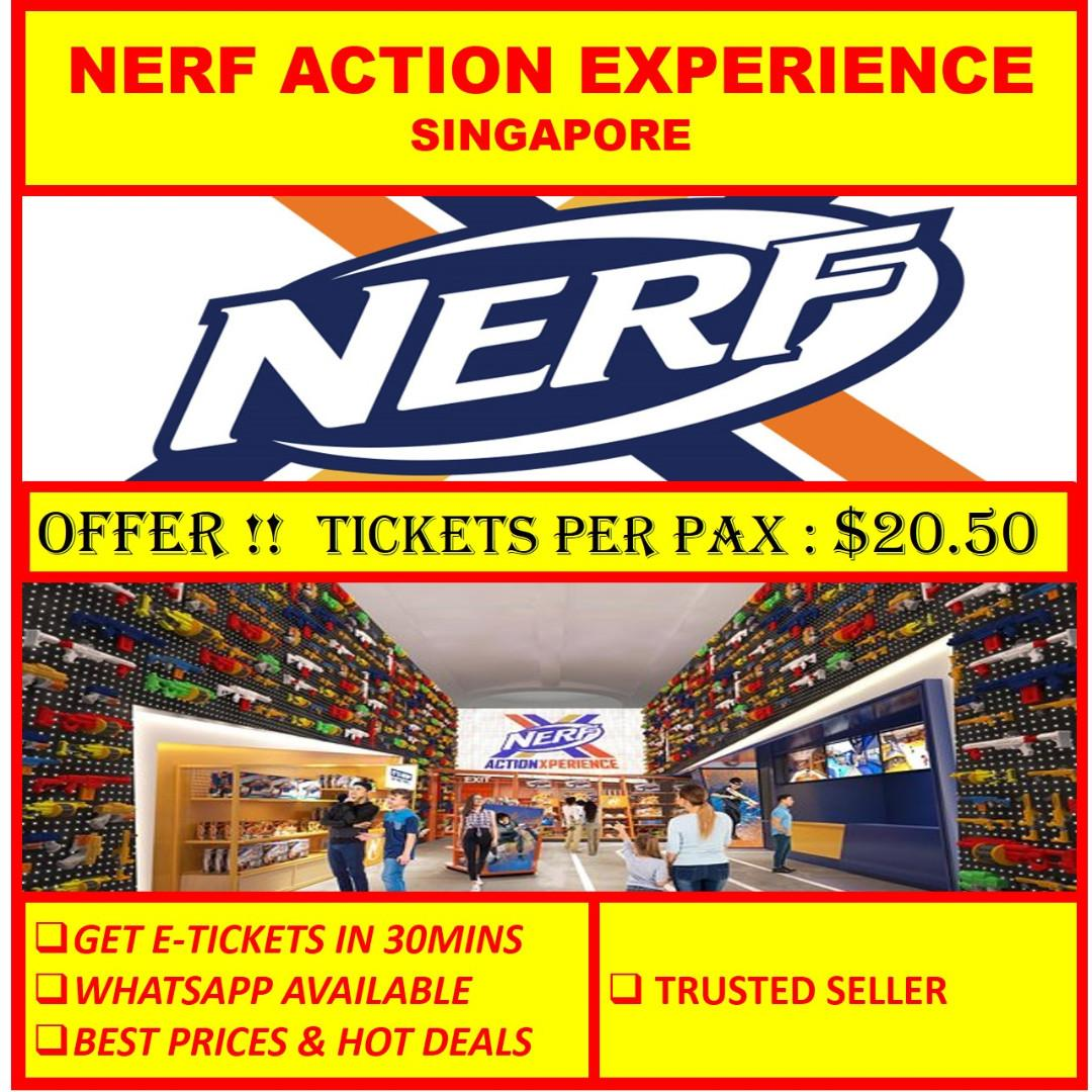 🔫 NERF ACTION XPERIENCE ,singapore - KICK-OFF 2 HOUR SESSION
