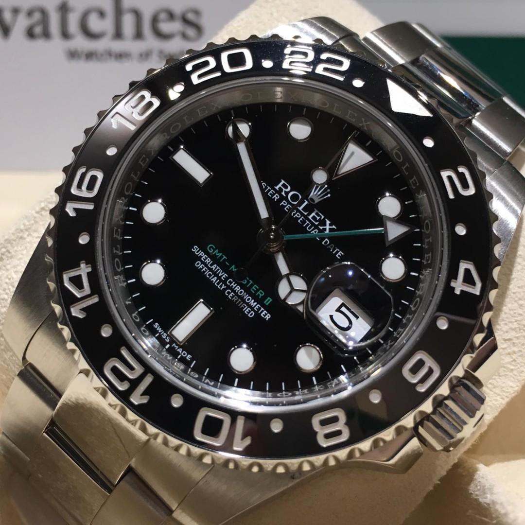 【銅鑼灣店】二手 Rolex GMT-Master II 116710LN「行貨」「五年保養」
