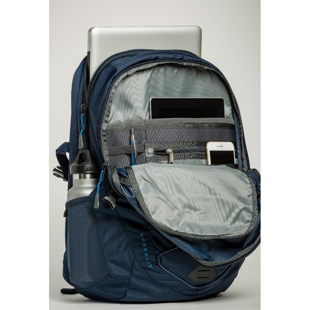 日本 The North Face 深藍色防潑水尼龍布 Borealis 28L 手提電腦 背囊