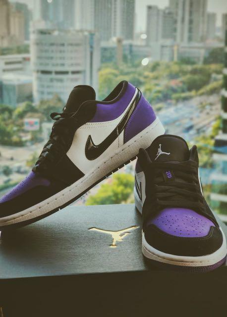 NEW Air Jordan 1 Purple Coart Low