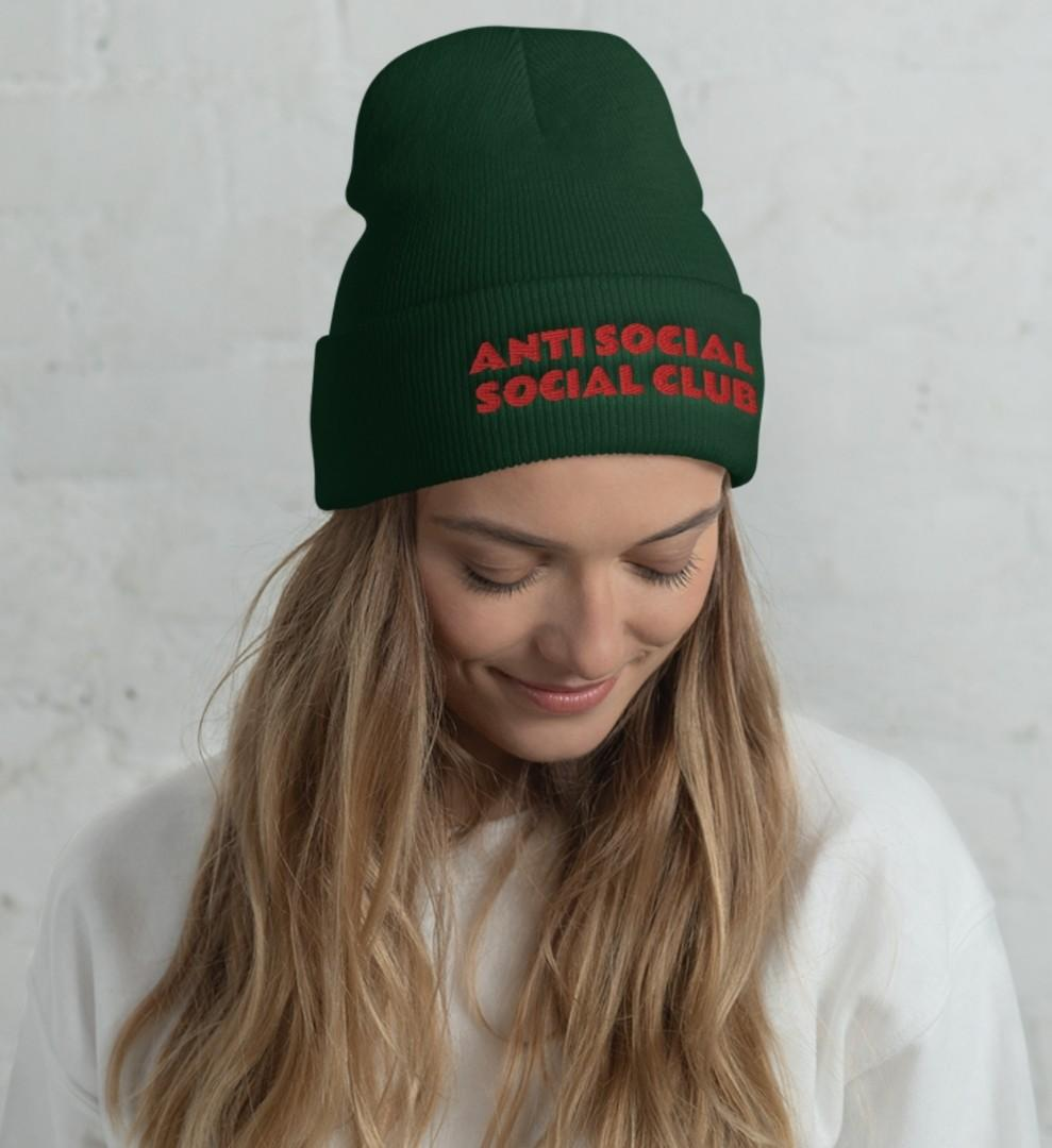 Anti Social Social Club - Embroidered Beanie Hat by Designs By You
