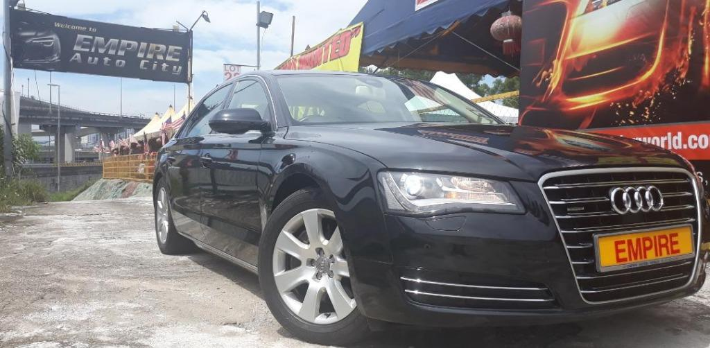 AUDI A8L 3.0 ( A ) SE TDI QUATRRO TURBO !! LONG WHEEL BASE !! PREMIUM HIGH SPECS THAT COMES WITH KEYLESS ENTRY PUSH START MOONROOF & ETC !! ( WXX 191 ) 1 CAREFUL OWNER !!