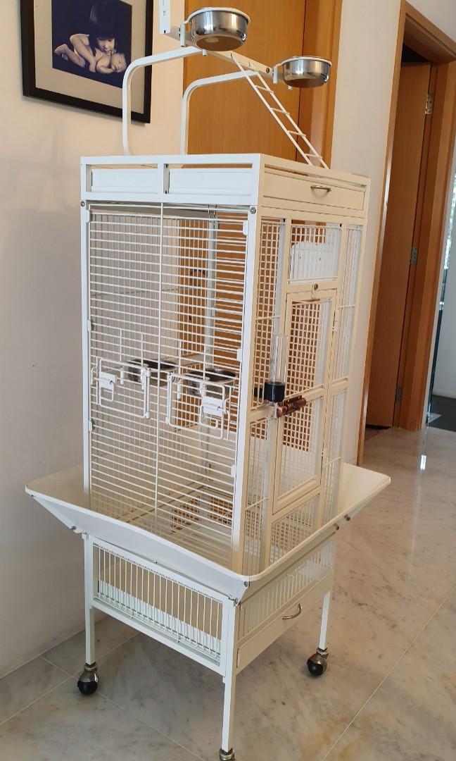 Beautifiul Functional White Bird Cage