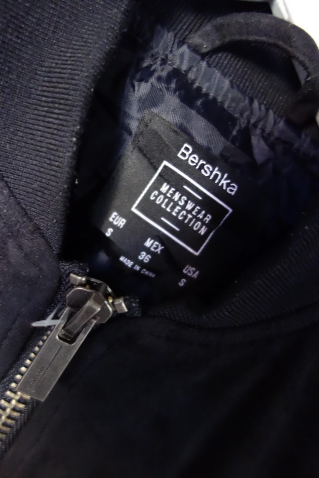 Bershka Faux Suede Bomber Jacket #1111special