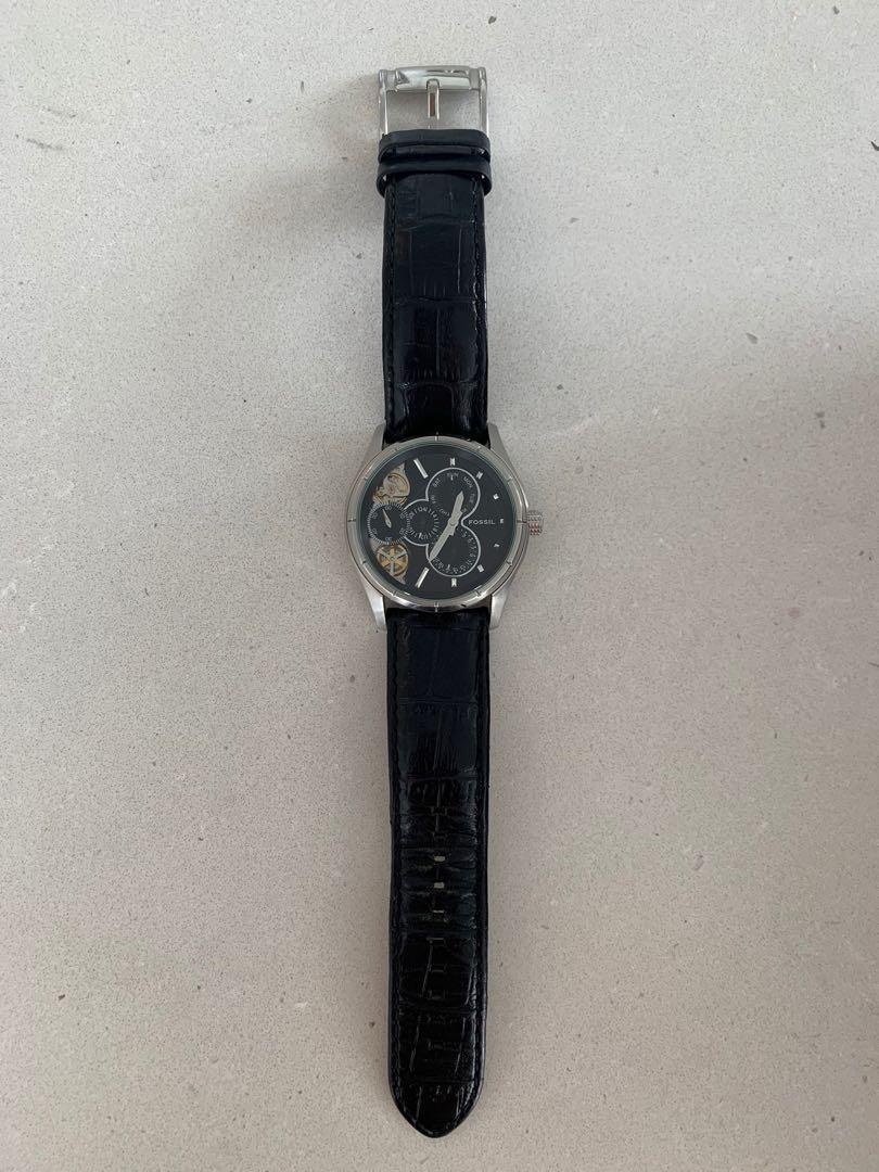 Black Fossil Twist Arkitekt Men's Watch - Automatic