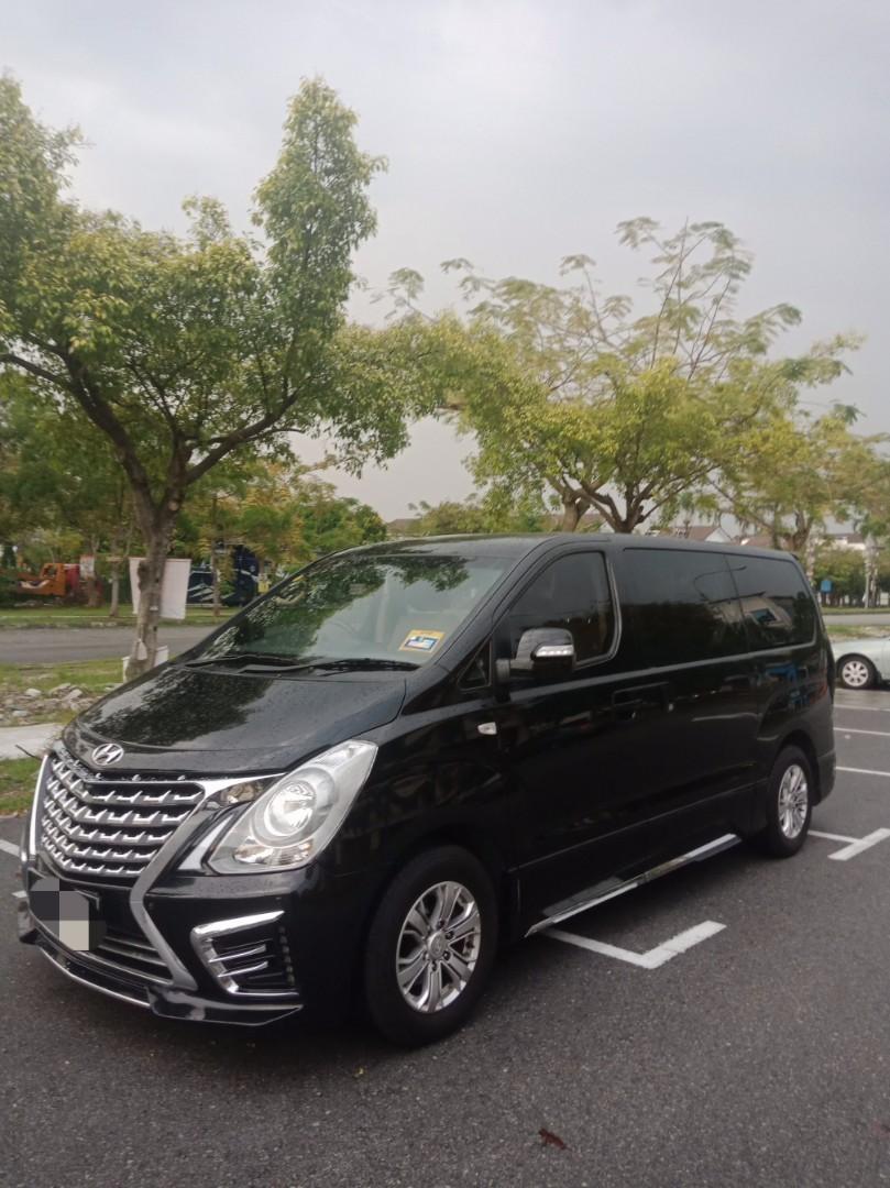 Black New Hyundai Grand Starex Royale 2.5 (A) MPV Rental Selangor KL
