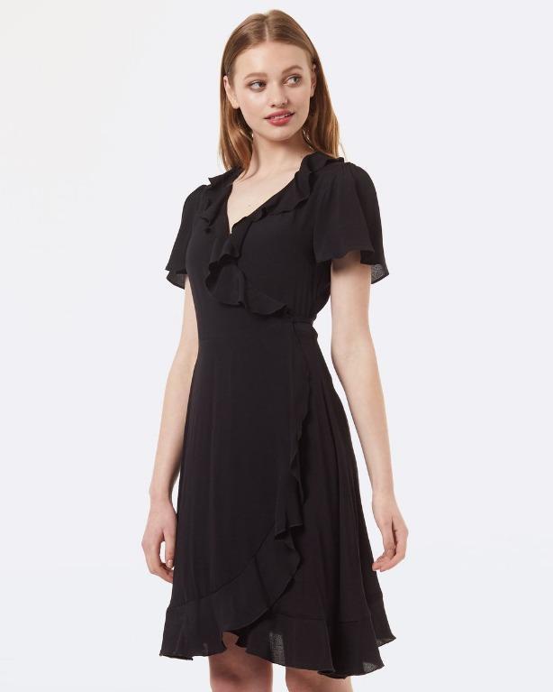 Black Tiffany Wrap Dress by Princess Highway Size 10