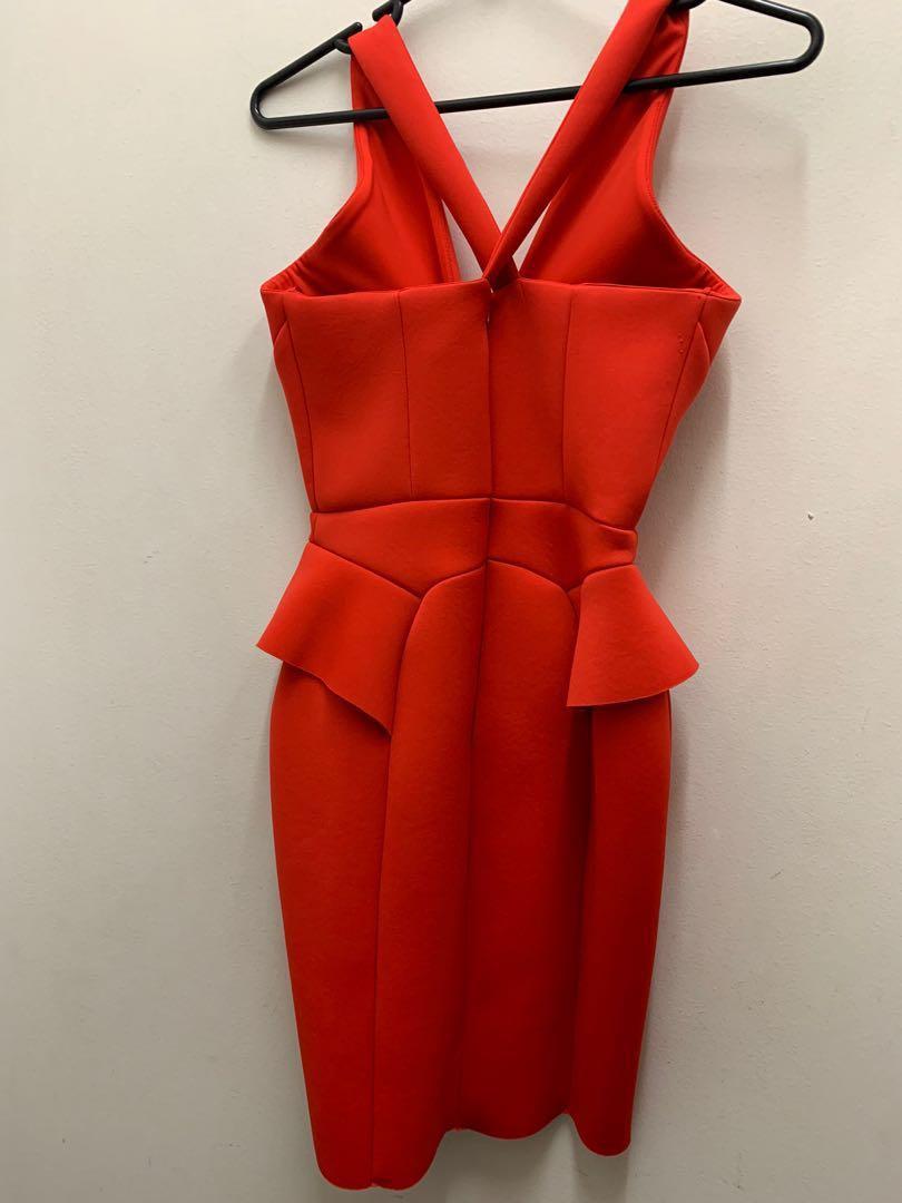 RIVER ISLAND Never Worn w/ Tag! Red Neoprene dress size 10