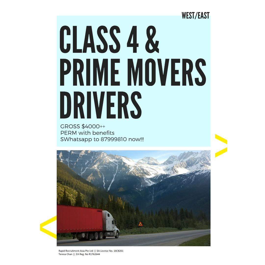 Class 4 / Prime Movers @ West/East ($4000++)
