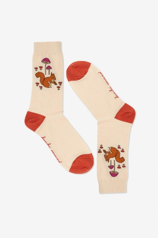 Cute Woodlands Squirrel Socks by Princess Highway BNWT