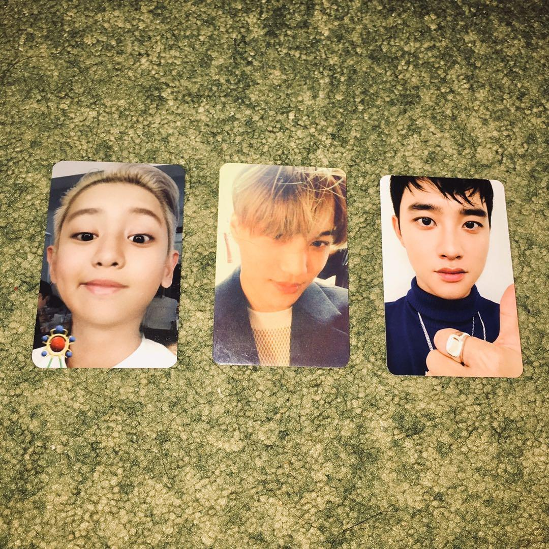 (NO FUSSY BUYER) EXO KAI CHANYEOL D.O KYUNGSOO OFFICIAL PHOTOCARD