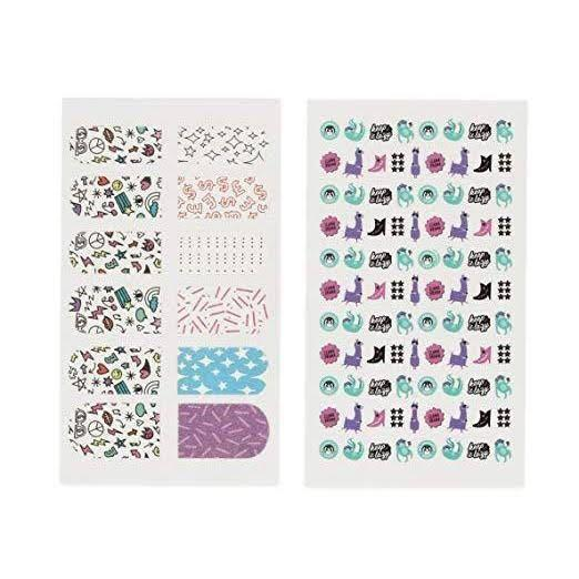 Fama Lam Diy Nails Scented Flocked Nail Wrap Lazy Mani Lofty 100 Nail Stickers Sheet Pack