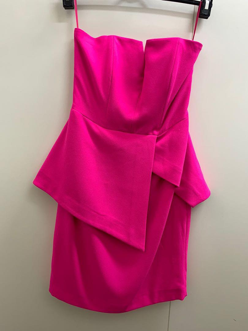 FINDERS KEEPERS never worn w/ tag Fuschia Tube Dress size small