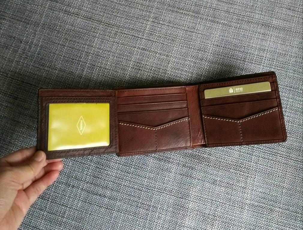 FOSSIL Men Reese RFID Bifold Wallet - Brown