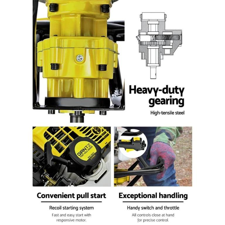 Giantz 88CC Post Hole Digger Auger Petrol Drill Borer Fence Earth Power