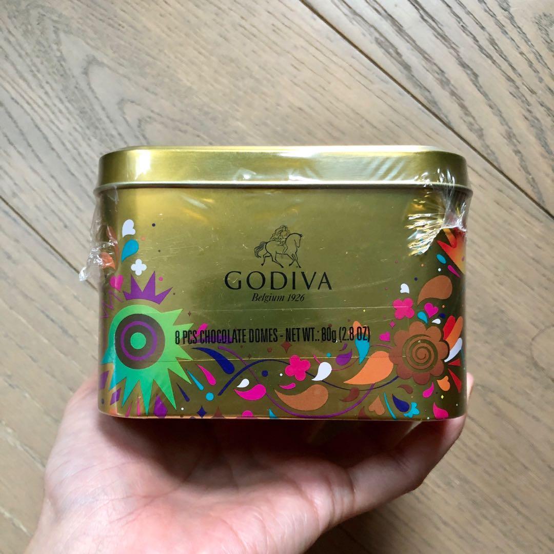 Godiva Domes 脆糖榛果朱古力 8粒 鐵盒裝