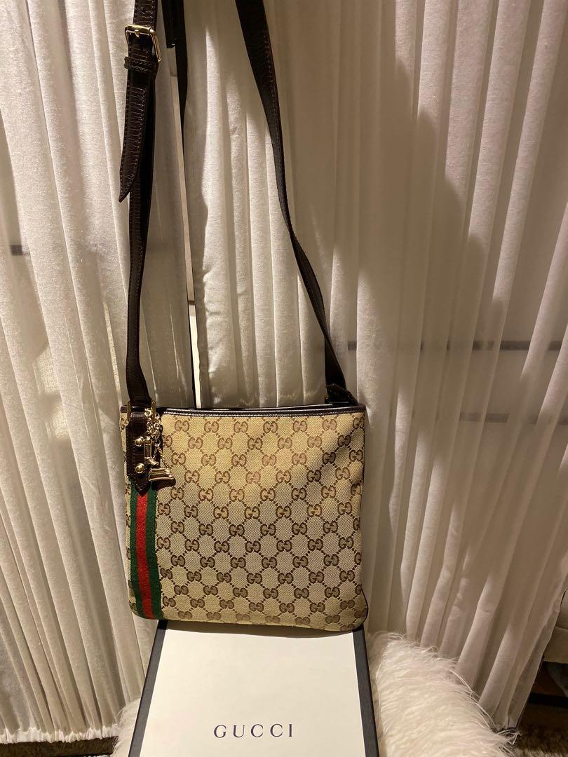 Gucci Monogram GG Canvas Vintage Web Jolicoeur Charms Messenger Crossbody Bag