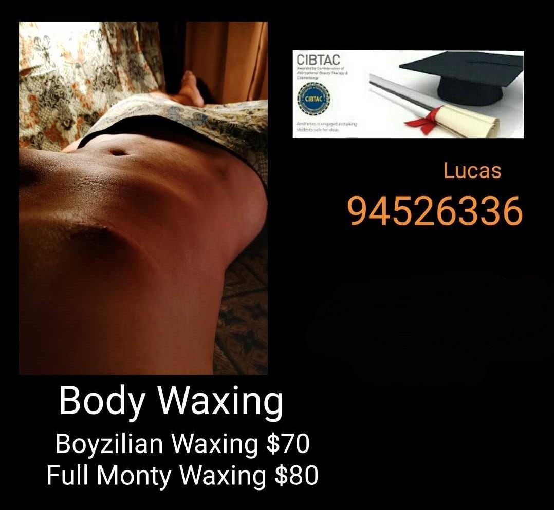 Guy Full Monty waxing