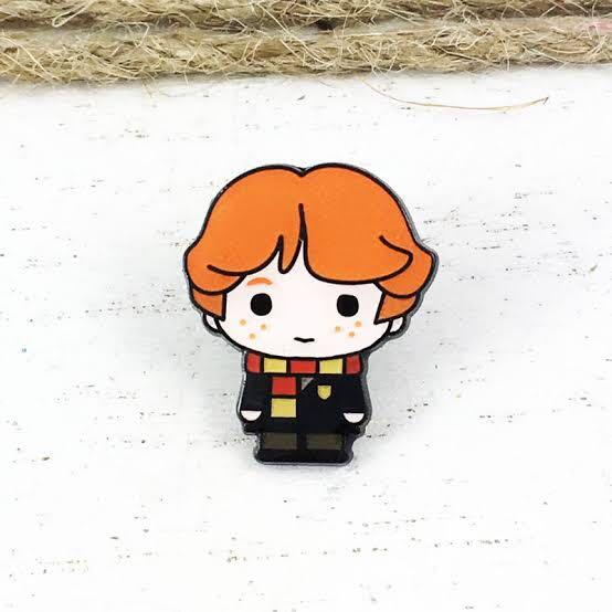 Harry Potter Ron Weasley Cute Chibli Gryffindor Character Enamel Pin Badge #swapau
