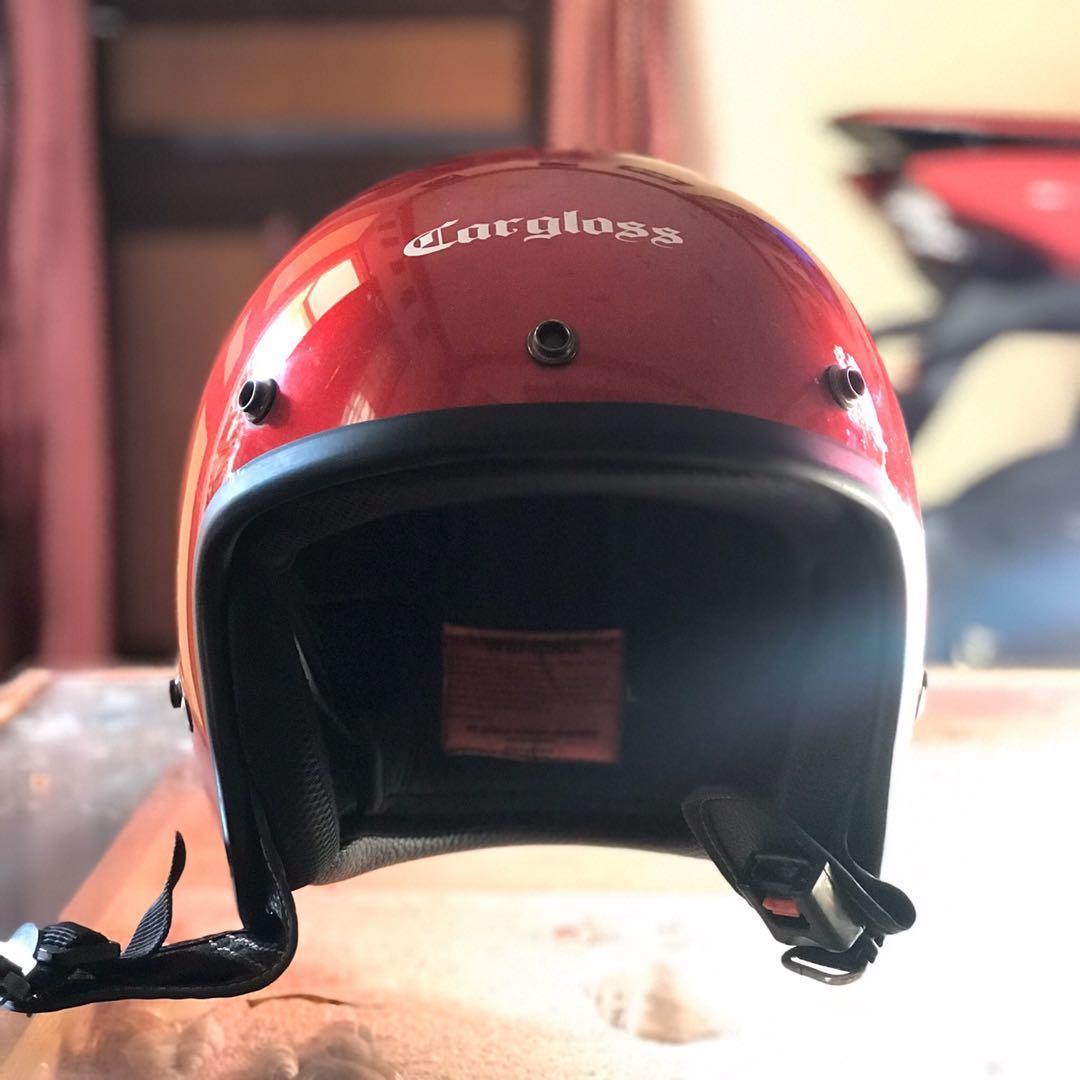 Helm Cargloss Merah Glossy