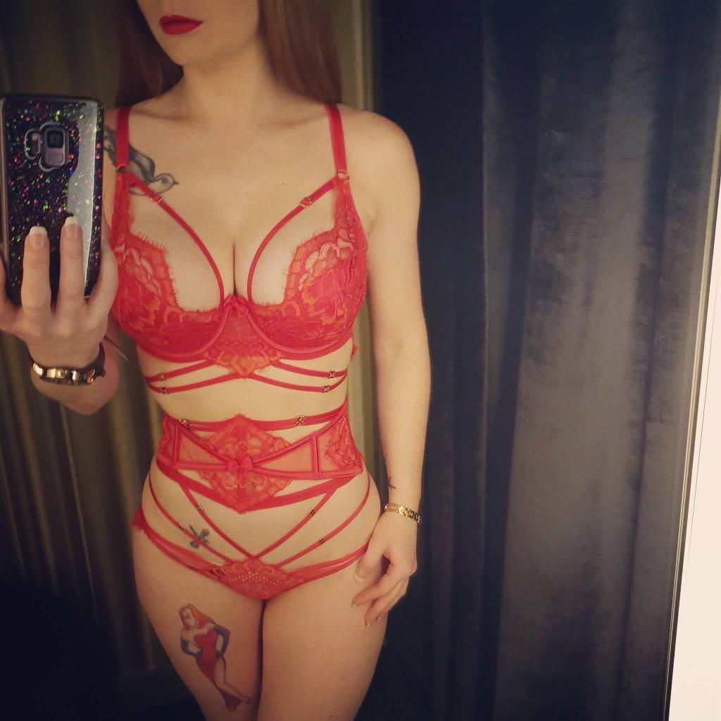 Honey Birdette Candice Waspie BNWT Red/Pink Size XS