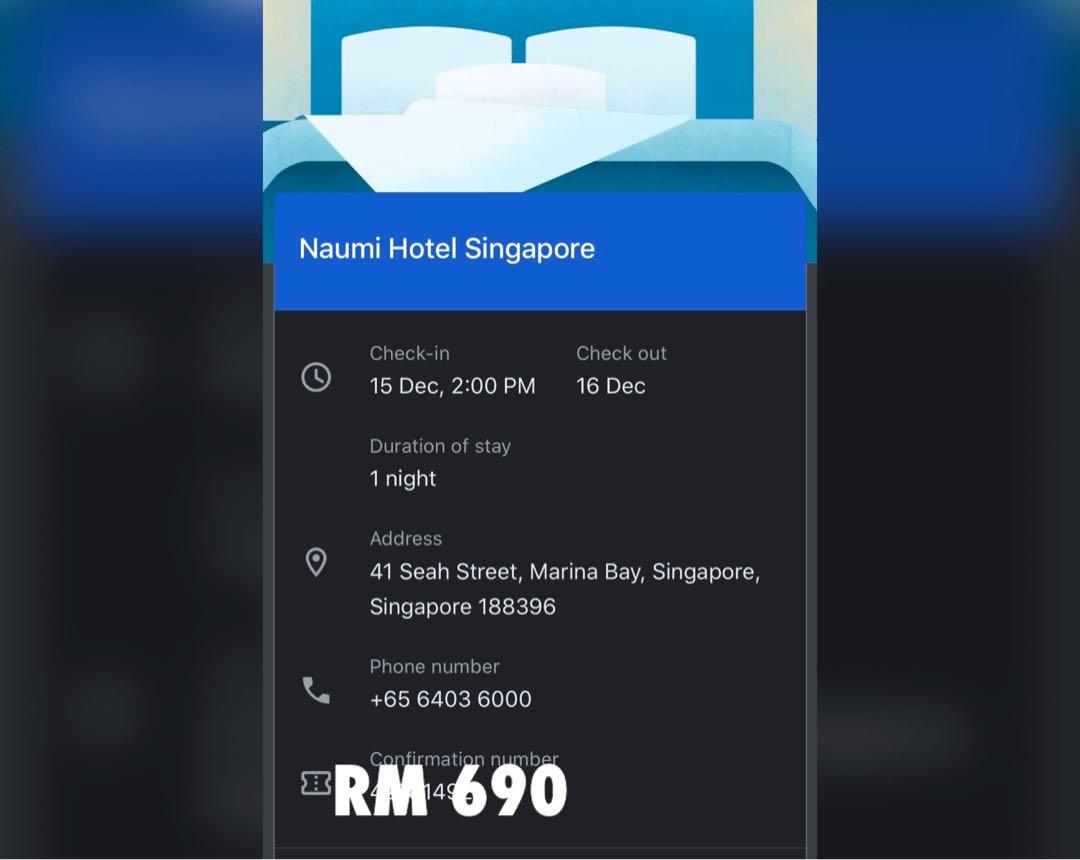 Hotel Noumi Singapore 5 star hotel booking