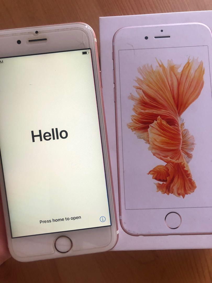 iPhone 6s Rose Gold 65gb excellent condition unlocked
