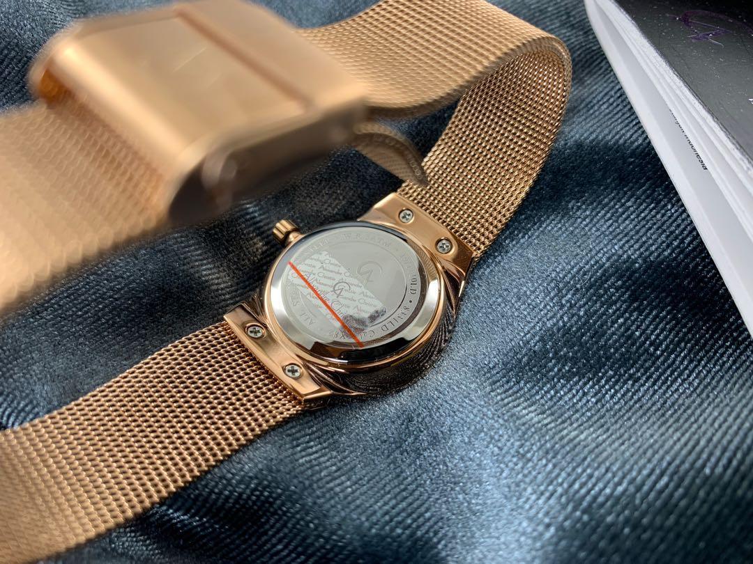 Jam tangan wanita Alexandre Christie AC 8331 LD Rose gold Original