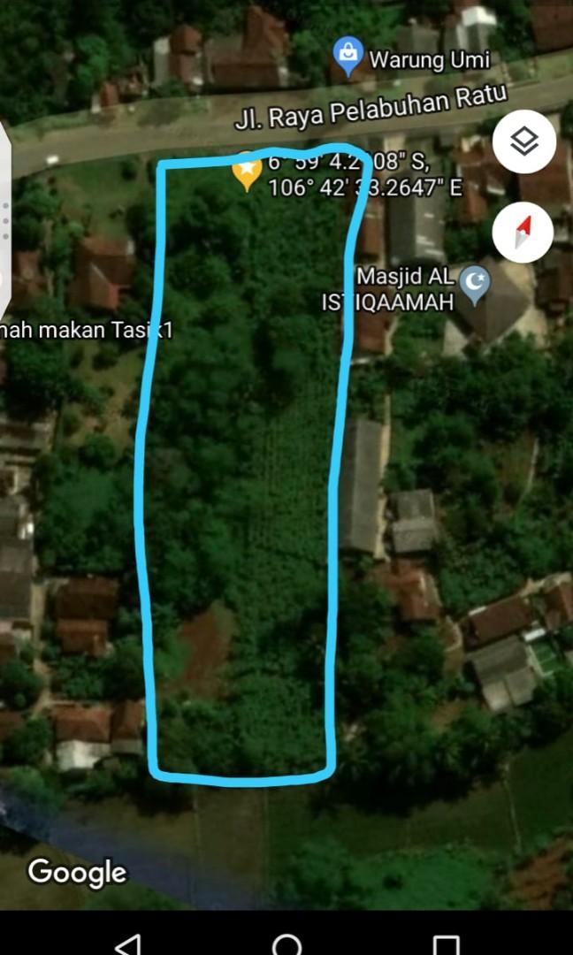 Jual Tanah di Sukabumi, pinggir Jalan cocok untuk bisnis
