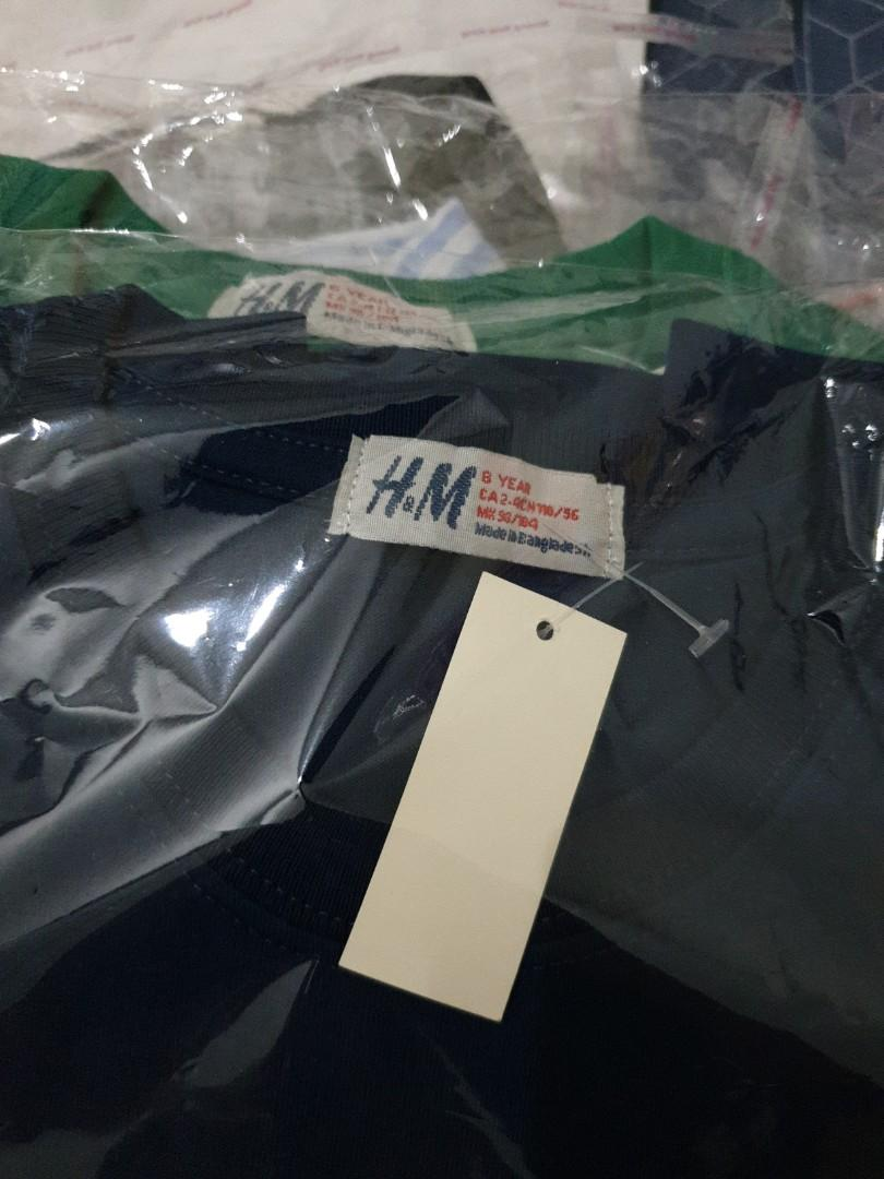 "Kaos H&M anak laki"" uk 8th biru"