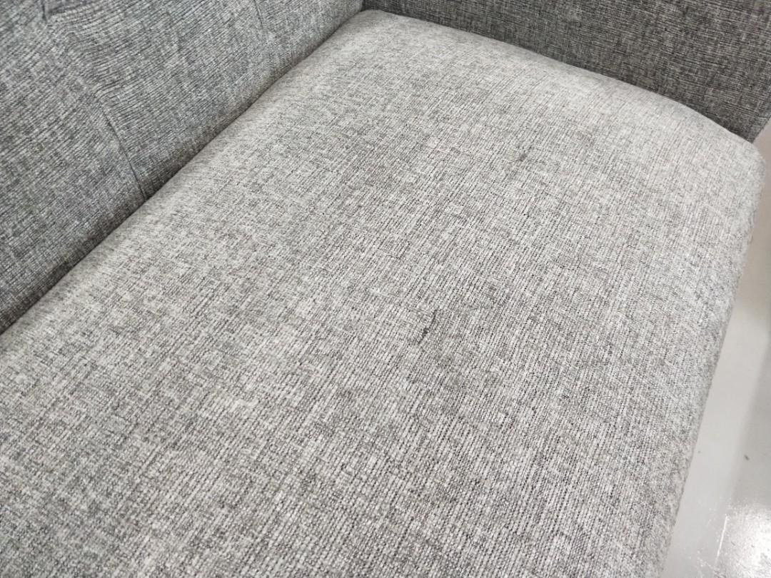 LEANNE 3 Seater Sofa in GREY