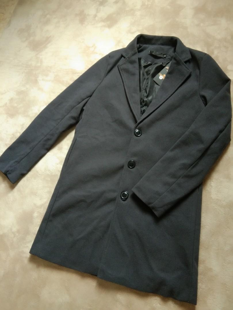 Long coat winter dark grey
