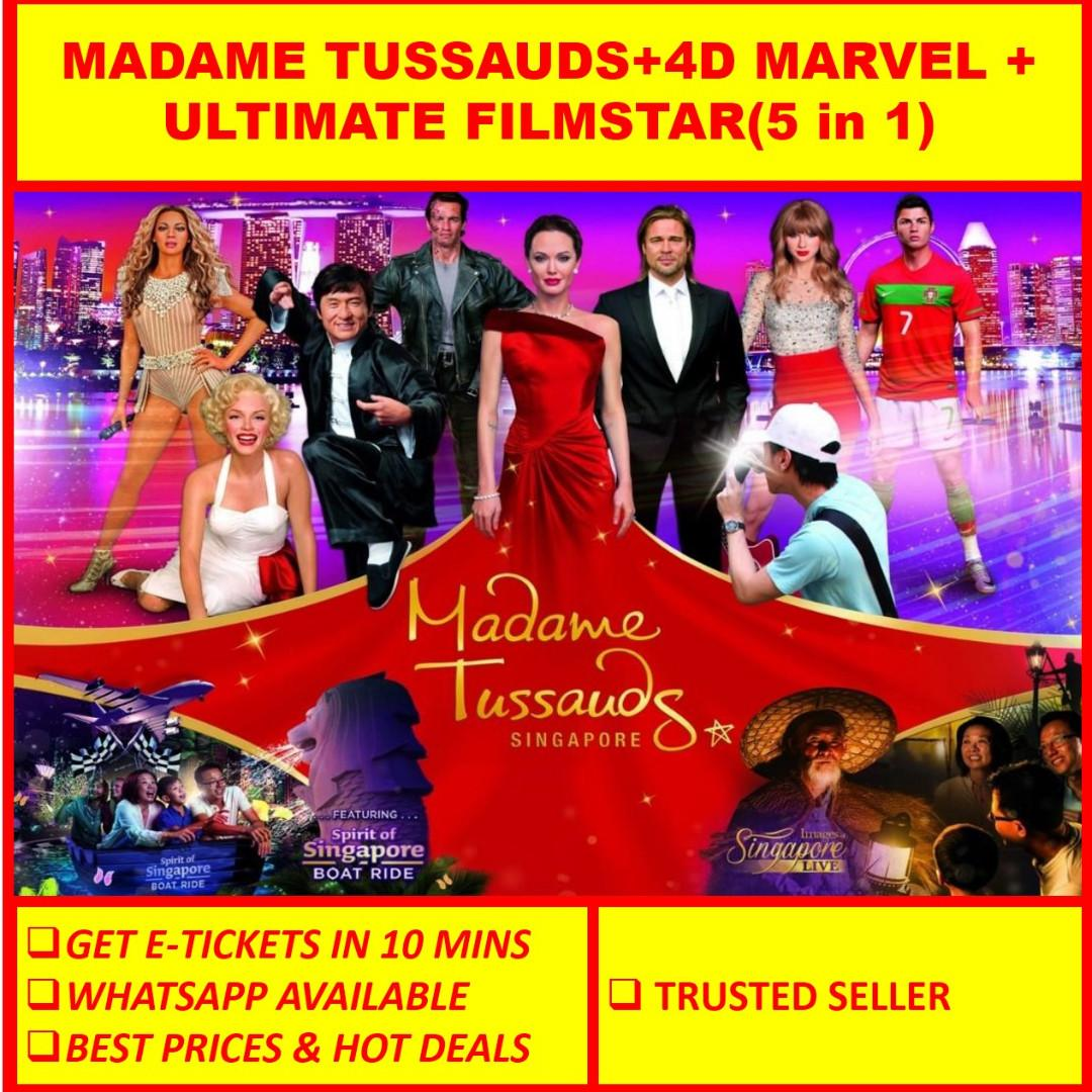 Madame Tussauds Full Experience + 4D Marvel + Ultimate Film Star Exp (5 in 1)