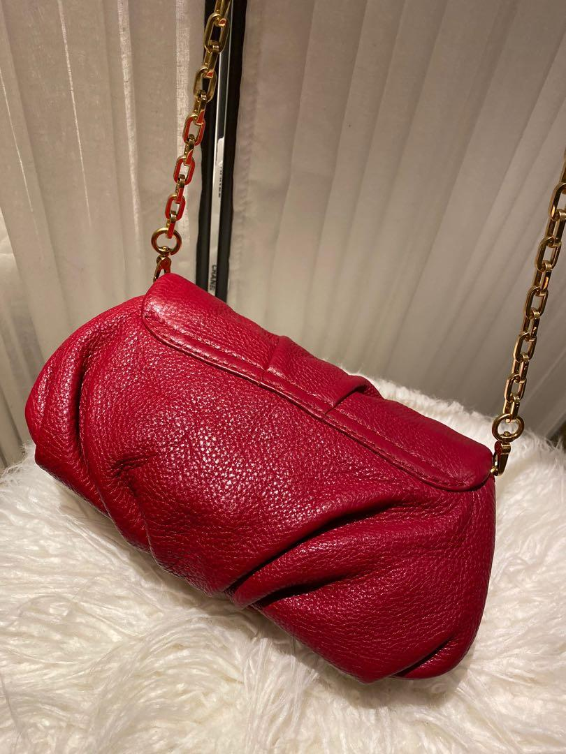 Marc by Marc Jacobs Classic Q Karlie Red Leather Crossbody Bag