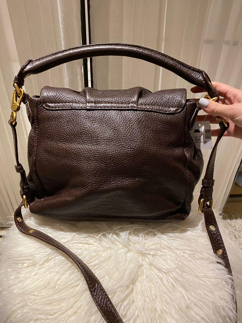 Marc Jacobs Classic Q Lil Ukita Brown Satchel Bag (Brand new-Tags attached)