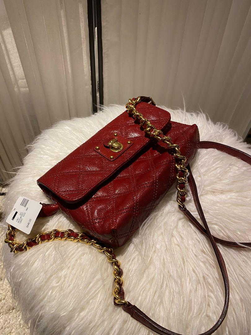 Marc Jacobs Quilted Red Leather Crossbody Bag (Brand new-Tags attached)