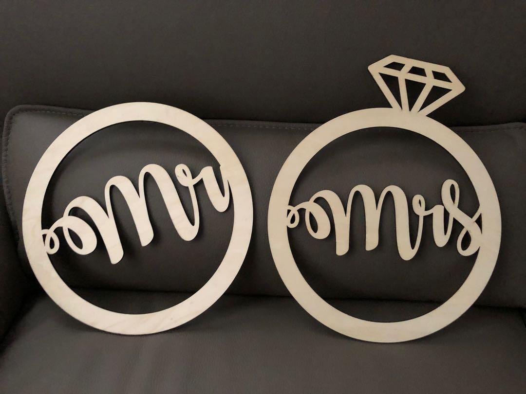 Mr & Mrs 木字牌 結婚拍攝 婚後物資 外影 結婚裝飾