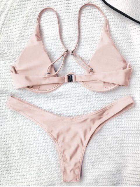 Never worn with tag! ZAFUL bikini top push up plunge MEDIUM